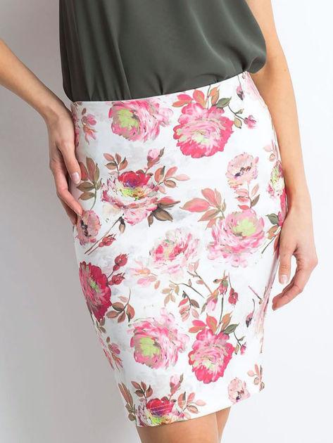 Biało-różowa spódnica Essential                              zdj.                              1