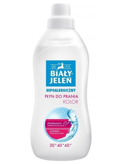 Biały Jeleń Płyn do prania tkanin hipoalergiczny Kolor 1 l                              zdj.                              1