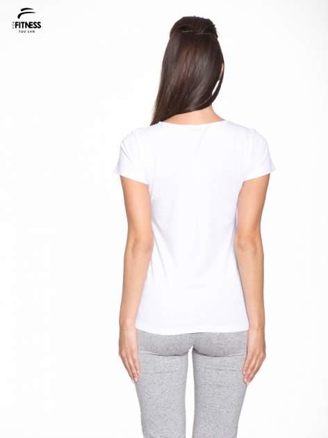 Biały bawełniany t-shirt damski typu basic                                  zdj.                                  4