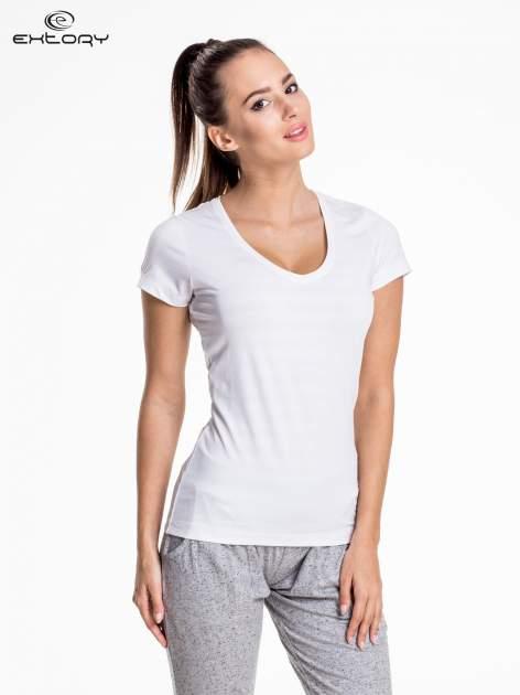 Biały damski t-shirt sportowy PLUS SIZE