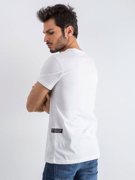 Biały męski t-shirt Public                              zdj.                              2