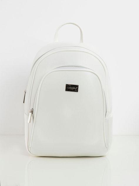 Biały plecak ze skóry ekologicznej