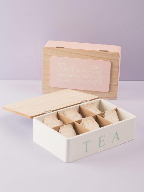Biały pojemnik na herbatę                              zdj.                              1