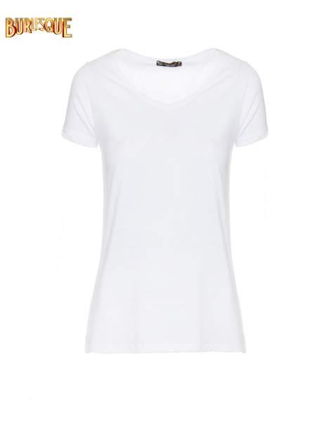 Biały półtransparentny t-shirt basic
