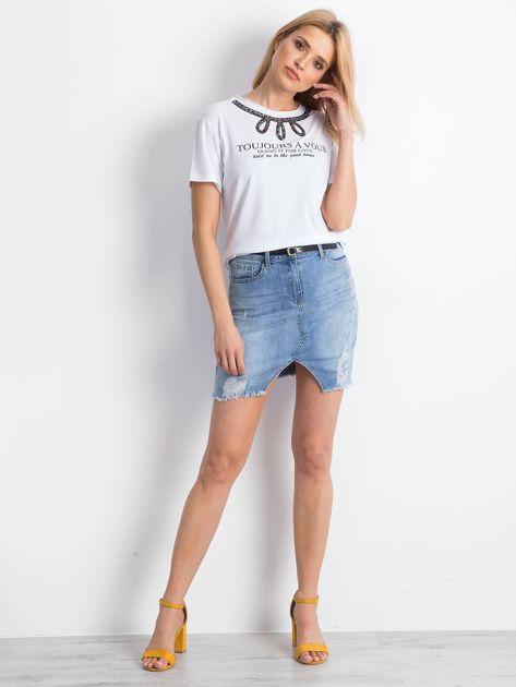 Biały t-shirt Astonishment                              zdj.                              4