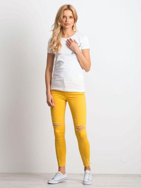 Biały t-shirt Birdy                              zdj.                              4
