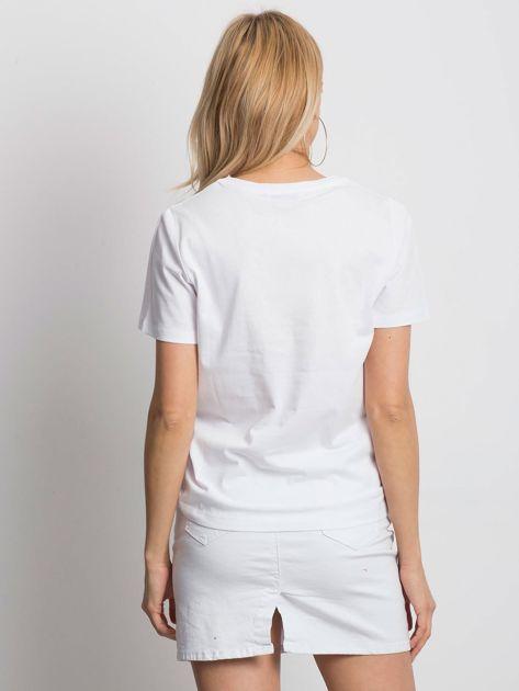 Bialy t-shirt EVERY WOMAN                              zdj.                              3