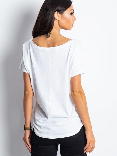 Biały t-shirt Emory                              zdj.                              2