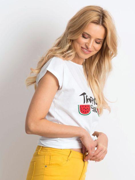 Biały t-shirt Perfectly                              zdj.                              3