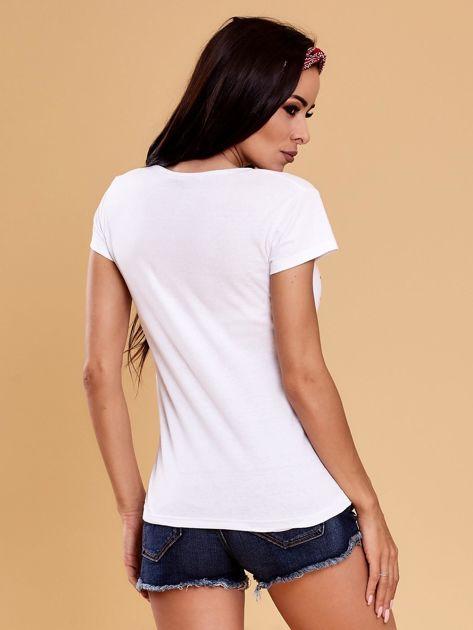 Biały t-shirt damski NOTHING                              zdj.                              2