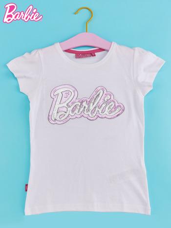 Biały t-shirt dla dziewczynki BARBIE                                  zdj.                                  1