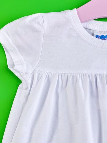 Biały t-shirt dla dziewczynki ŚWINKA PEPPA                                  zdj.                                  3