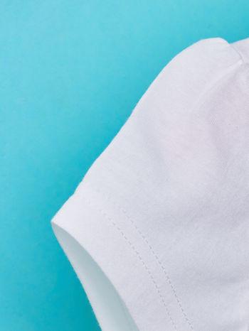 Biały t-shirt dla dziewczynki z cekinami MYSZKA MIKI                                  zdj.                                  6