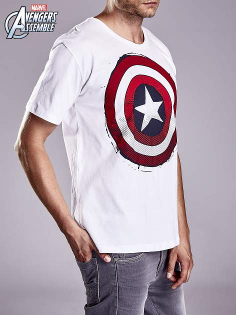Biały t-shirt męski AVENGERS                                  zdj.                                  4
