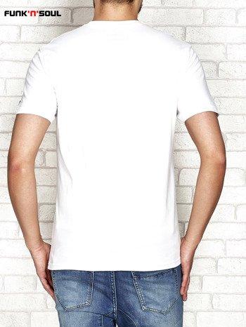 Biały t-shirt męski z cyfrą 7 FUNK N SOUL