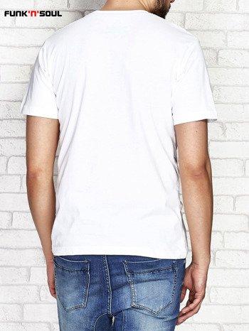 Biały t-shirt męski z miejskim nadrukiem FUNK N SOUL