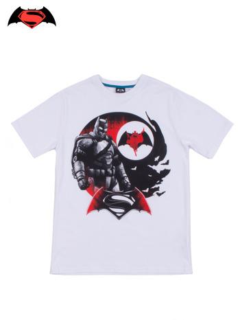 Biały t-shirt męski z motywem BATMAN V SUPERMAN                                  zdj.                                  1