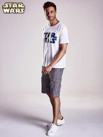 Biały t-shirt męski z nadrukiem STAR WARS                                  zdj.                                  4
