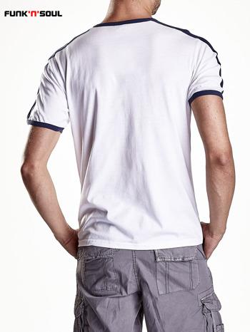 Biały t-shirt męski z napisem ENGLAND Funk n Soul