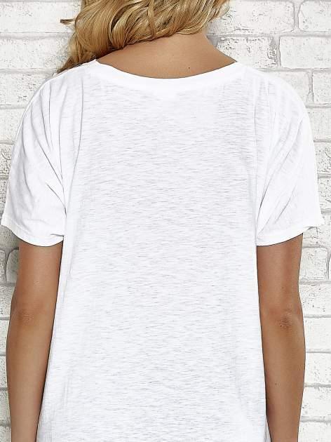 Biały t-shirt w serduszka z napisem THE CUTEST GIRL Funk 'n' Soul                                  zdj.                                  6