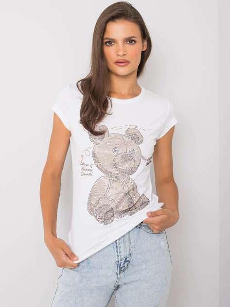 Biały t-shirt z aplikacją Misha