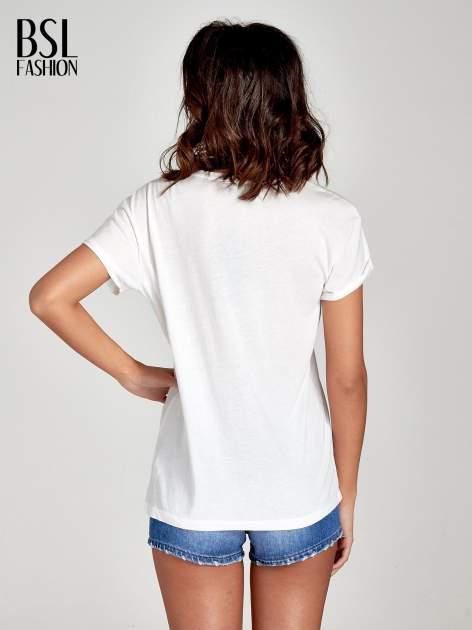 Biały t-shirt z hasztagiem #SELFIE                                  zdj.                                  4