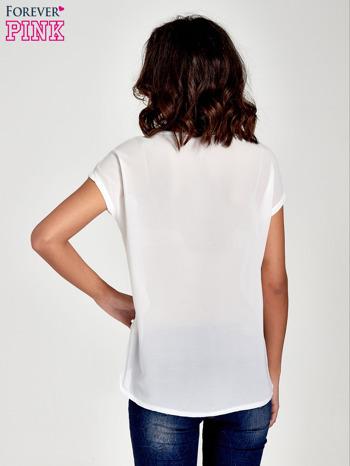Biały t-shirt z kryształkami                                  zdj.                                  4