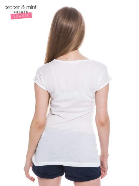 Biały t-shirt z nadrukiem LE MARAIS                                  zdj.                                  4
