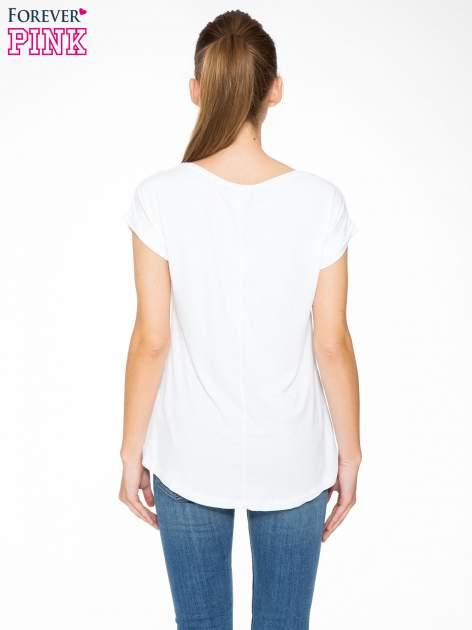 Biały t-shirt z nadrukiem Saint Tropez                                  zdj.                                  4