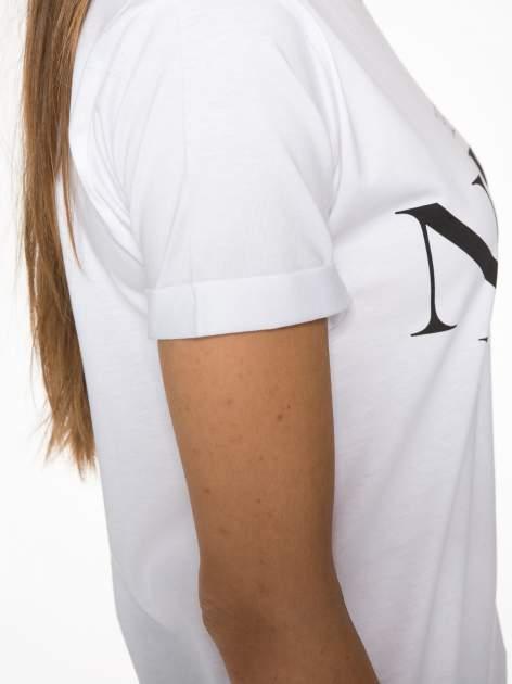 Biały t-shirt z napisem THE NEW ICONS                                  zdj.                                  8