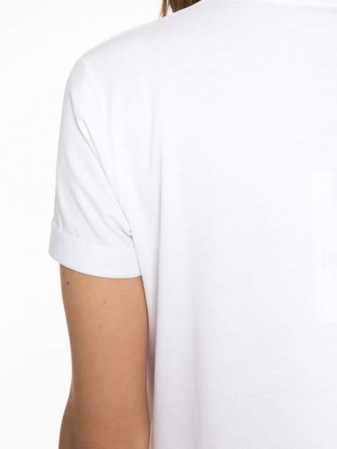 Biały t-shirt z napisem THE NEW ICONS                                  zdj.                                  10