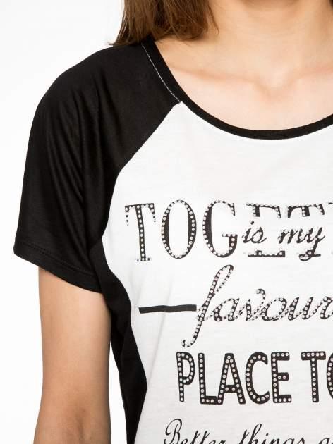 Biały t-shirt z napisem TOGETHER IS MY FAVOURITE PLACE TO BE                                  zdj.                                  5