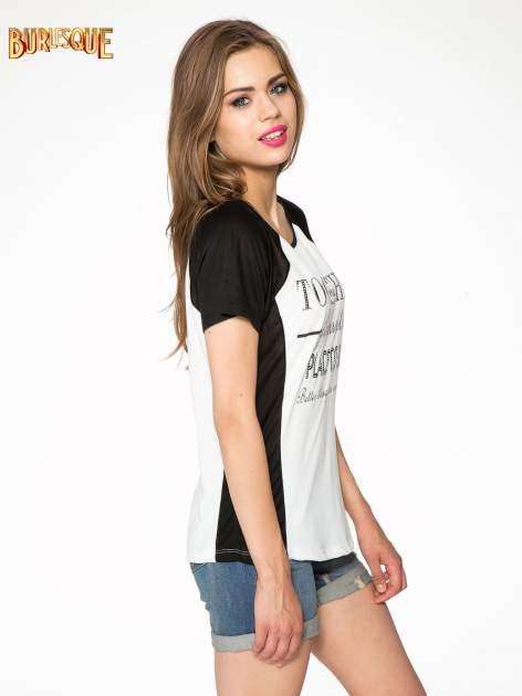 Biały t-shirt z napisem TOGETHER IS MY FAVOURITE PLACE TO BE                                  zdj.                                  3