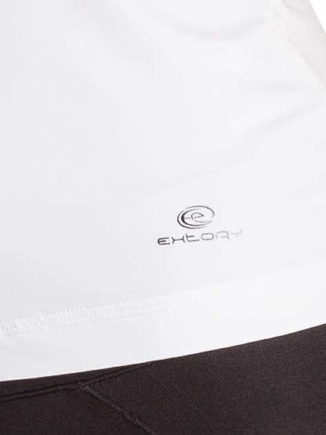 Biały top sportowy z ozdobnym wycięciem z tyłu                                  zdj.                                  4