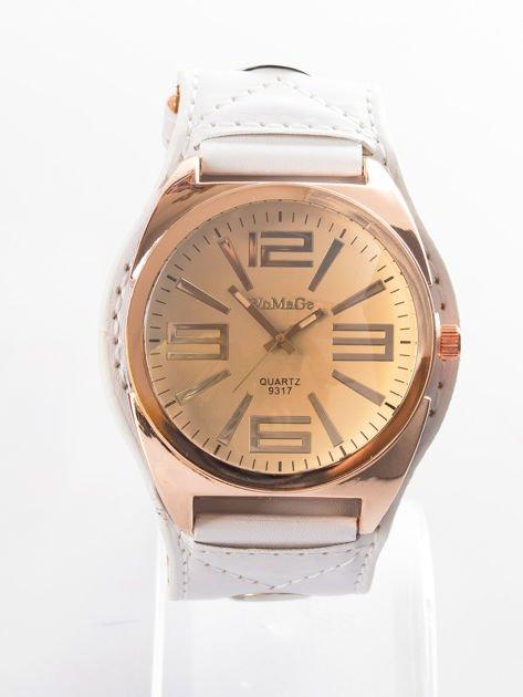 Biały zegarek męski na rękę                              zdj.                              1