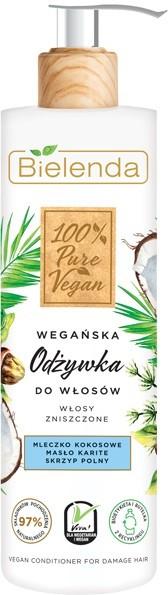"""Bielenda 100% Pure Vegan Wegańska Odżywka do włosów zniszczonych 240ml"""""""