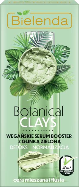 """Bielenda Botanical Clay Zielona Glinka Wegańskie Serum Booster do twarzy 30ml"""""""