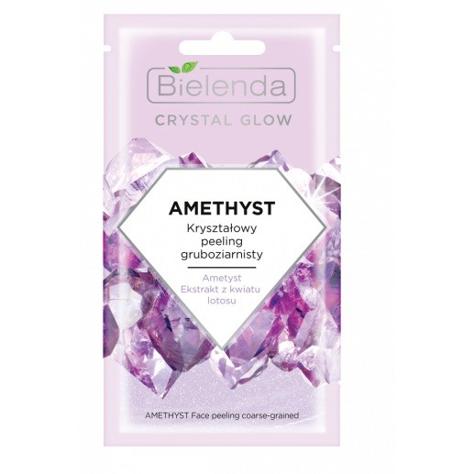 "Bielenda Crystal Glow Kryształowy Peeling gruboziarnisty Amethyst  8g"""