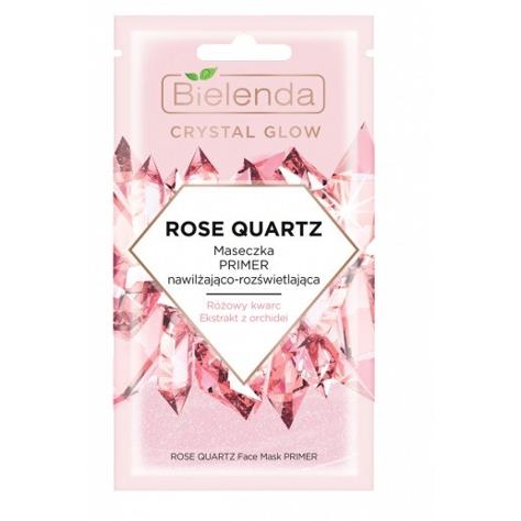 """Bielenda Crystal Glow Maseczka PRIMER nawilżająco-rozświetlająca Rose Quartz  8g"""""""
