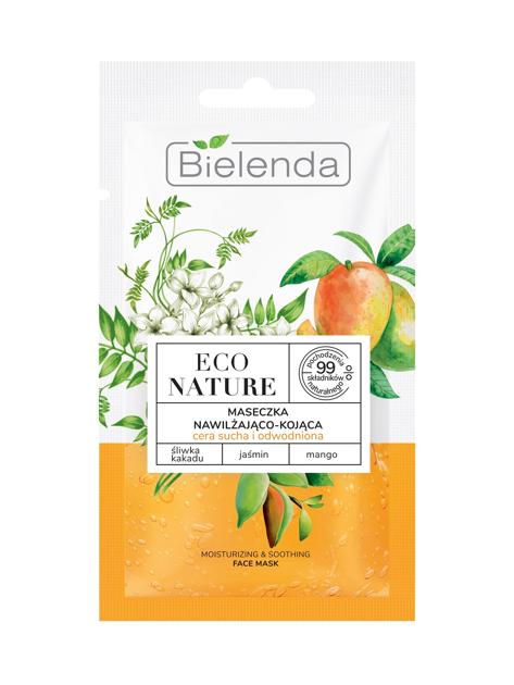 """Bielenda Eco Nature Maseczka do twarzy nawilżająco-kojąca - Śliwka Kakadu & Jaśmin & Mango 8g"""""""