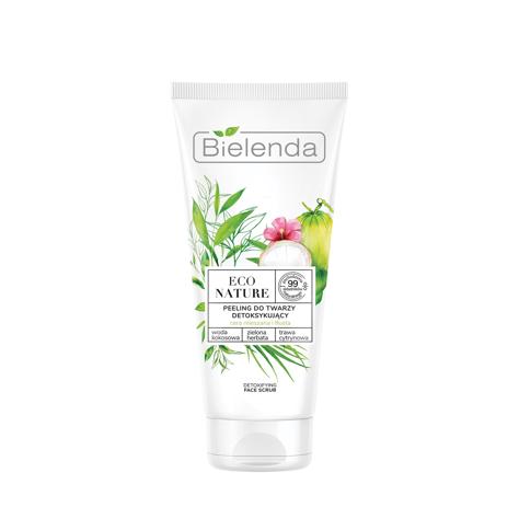 """Bielenda Eco Nature Peeling do twarzy detoksykujący - Woda Kokosowa & Zielona Herbata & Trawa Cytrynowa 150g"""""""