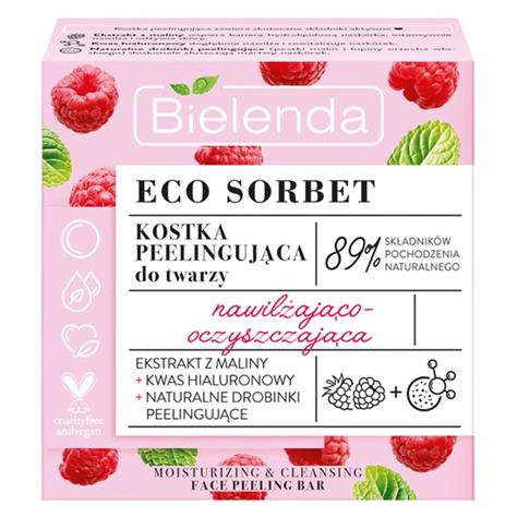 """Bielenda Eco Sorbet Malina Kostka peelingująca do twarzy nawilżająco-oczyszczająca 60ml"""""""