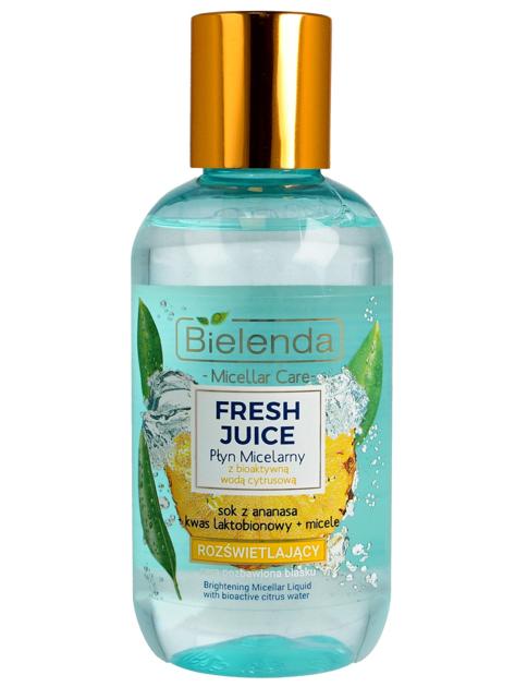 Bielenda Fresh Juice Płyn micelarny rozświetlający z wodą cytrusową Ananas 100 ml                              zdj.                              1
