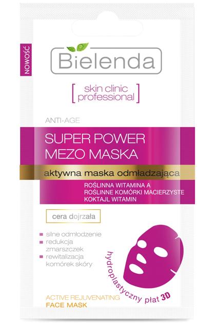 Bielenda Skin Clinic Professional Aktywna maska odmładzająca w płacie 3D 10g