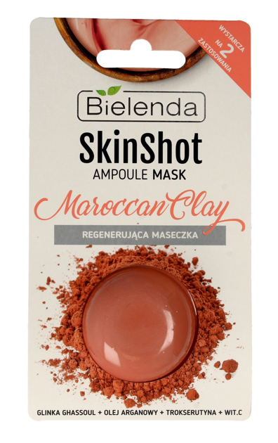 Bielenda Skin Shot Maseczka regenerująca Maroccan Clay 8g