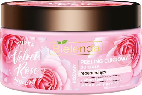 "Bielenda Super Skin Diet Velvet Rose Peeling do ciała cukrowy regenerujący  350g"""