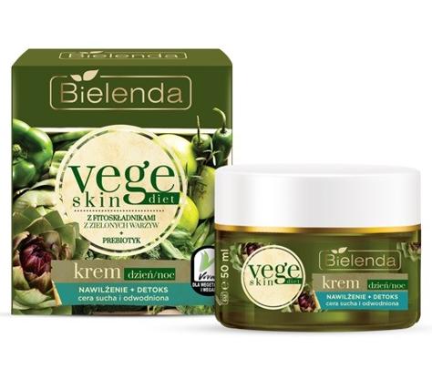 Bielenda Vege Skin Diet Krem Nawilżenie + Detoks cera sucha i wrażliwa na dzień i noc 50 ml