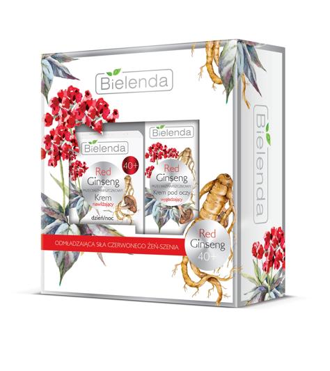 """Bielenda Zestaw prezentowy Red Ginseng 40+ (krem na dzień i noc 50ml+krem pod oczy 15ml)"""""""