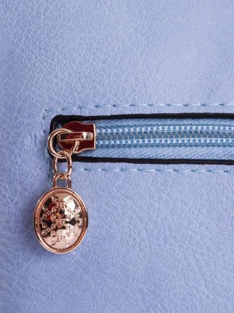 Błękitna listonoszka z odpinanym paskiem                                  zdj.                                  4