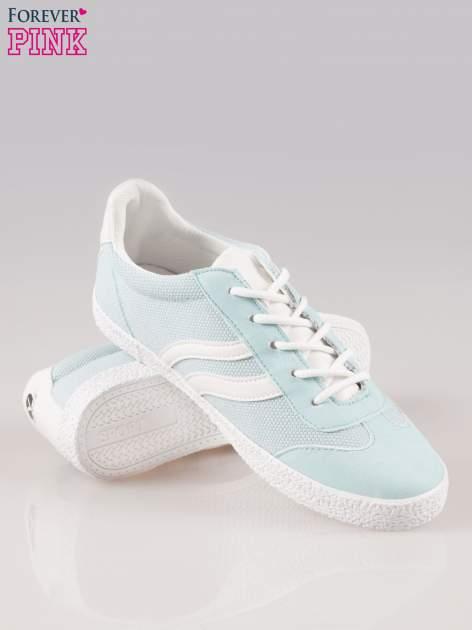 Błękitne buty sportowe faux leather Cupcake w stylu casual                                  zdj.                                  4